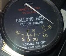 Spitfire fuel gauge