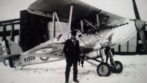 Fury K1928 outside hangar