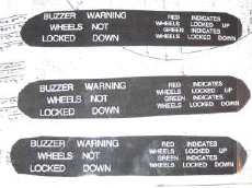 Cockpit labels