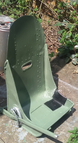 Hurricane seat with adjuster
