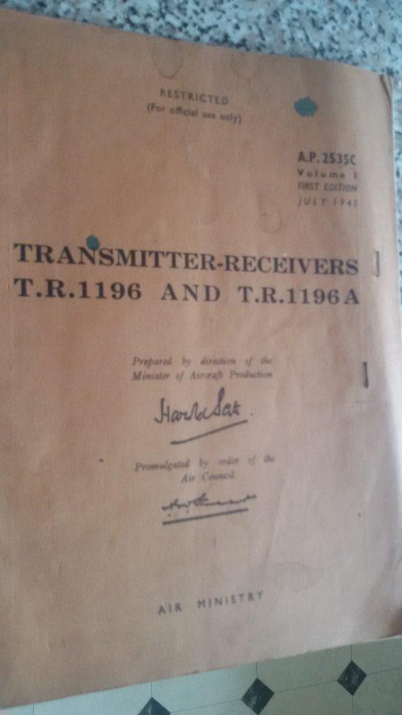 TR1196 Original Manual