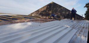 Workshop roof